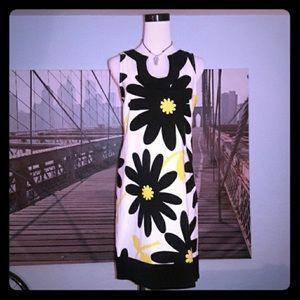 London Times 4 Flower Power Boho 70's Dress Retro